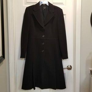 Tahari | Long 100% Wool Coat | Size 8